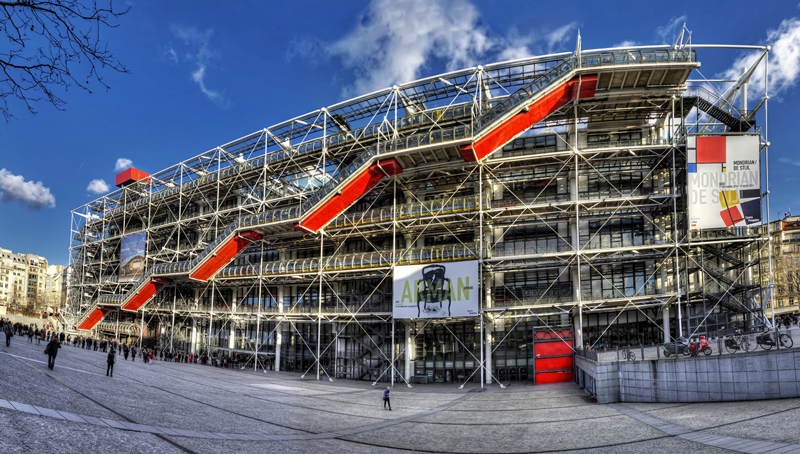 Le batiment du centre Pompidou à Paris